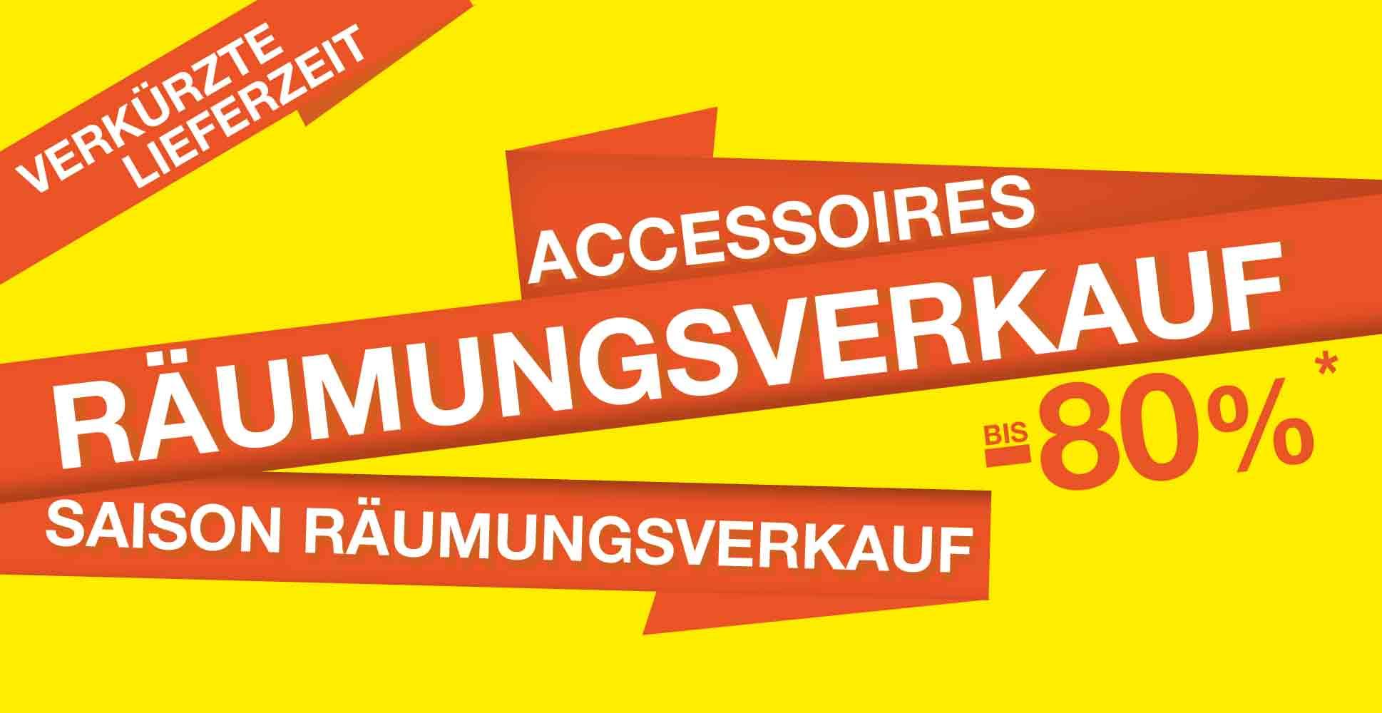 Mittwoch Räumungsverkauf Accessoires