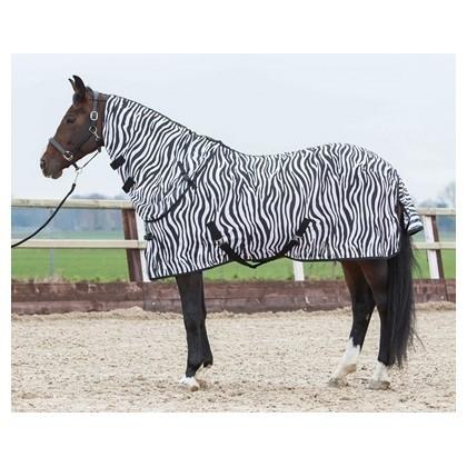 Fliegendecke Zebra mit seperatem Halsteil - 105 cm