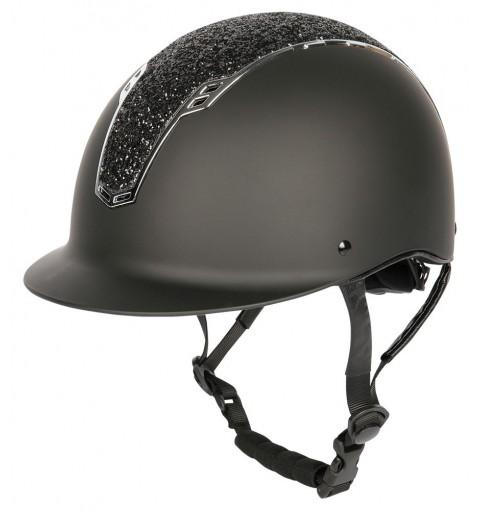Sicherheitsreithelm, Centaur - schwarz-silber - L-XL
