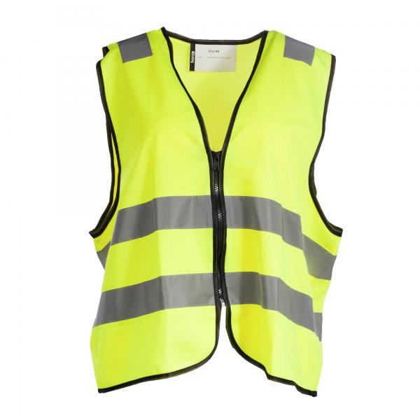Supreme Sicherheits-Weste mit Reißverschluss - gelb - S