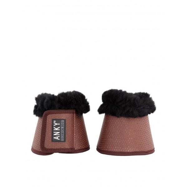 Leichte Hufglocken Soft & Shiny - saddle brown