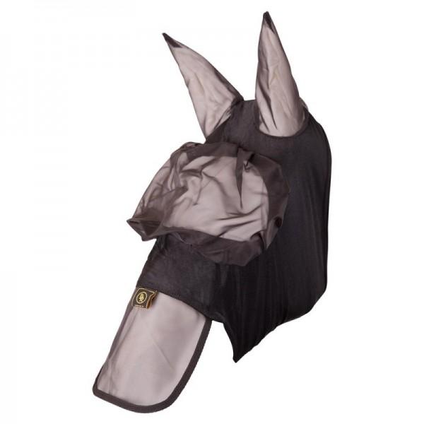 Fliegenmaske mit Nasenschutz - schwarz