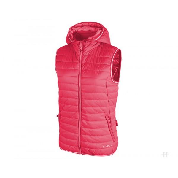 Damenweste Zip Hood - pink