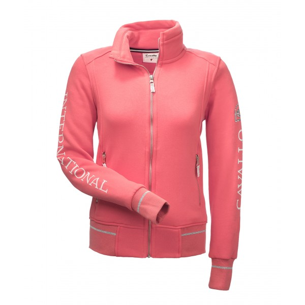 Sweatjacke MONA - hot coral