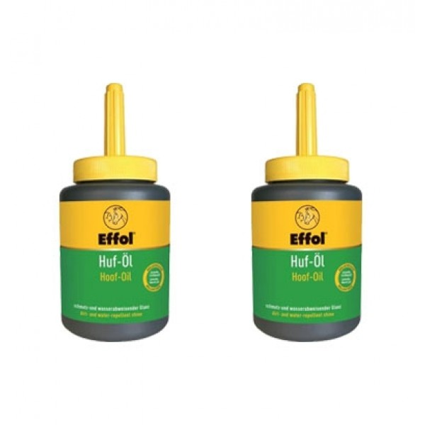 2er Set Huf-Öl mit Pinsel - 2x 475 ml