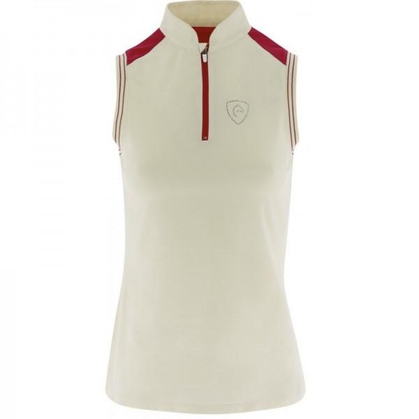 Poloshirt, ohne Ärmel - weiß - XL
