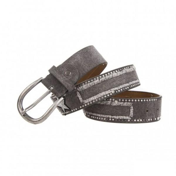 Gürtel Jeans mit Stern - dunkelgrau - 85 cm