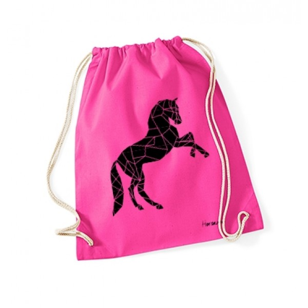 Gymbag Geometric Horse - fuchsia