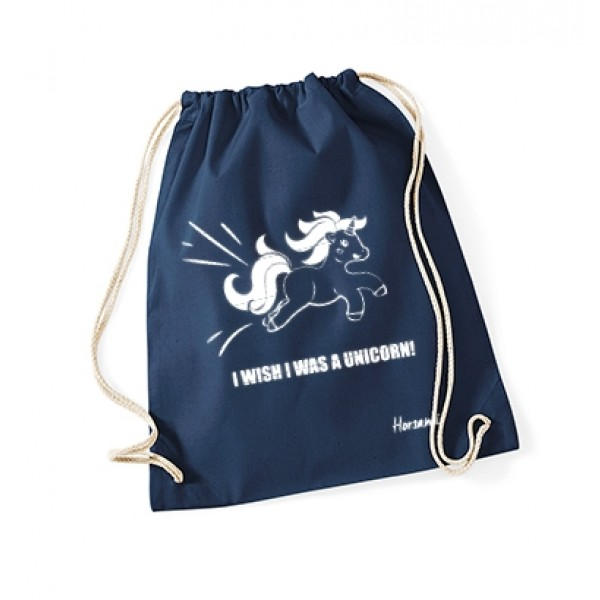 Gymbag Unicorn wish - navy