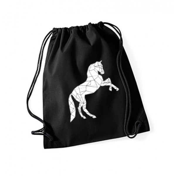 Gymbag Geometric Horse - black