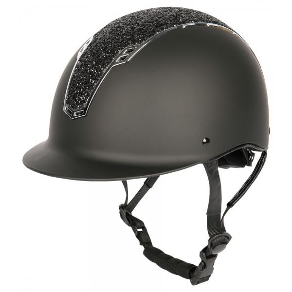 Sicherheitsreithelm Centaur - schwarz-silber - L-XL
