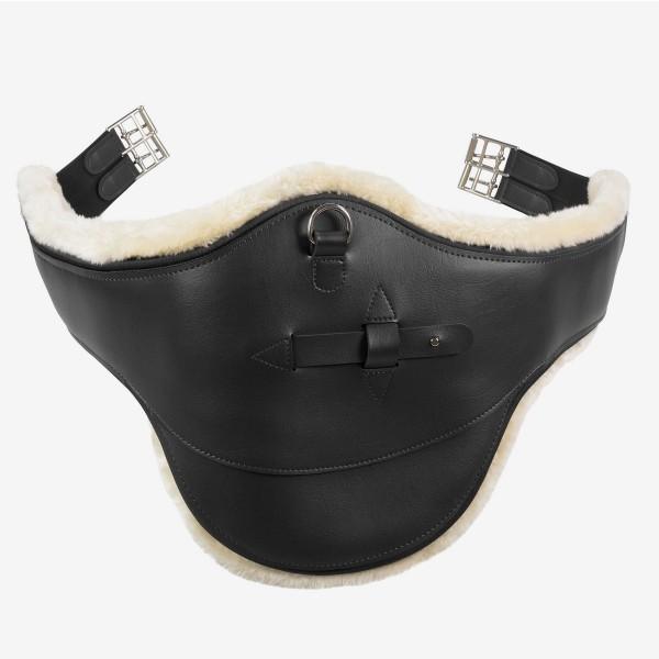 Stollenschutzgurt Atlanta mit Fleecefutter - schwarz - 130 cm