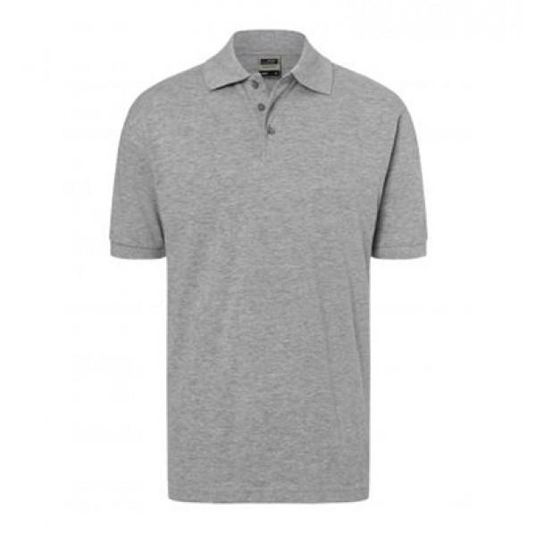 Poloshirt Herren - grau meliert - L