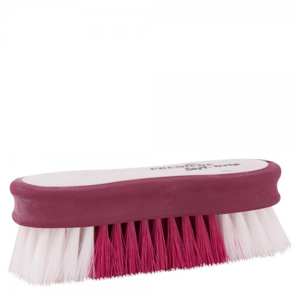 5er Set Kopfbürste Soft Grip - weinrot/ weiß