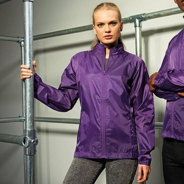 Regenjacke - purple - M