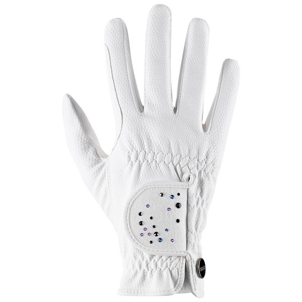 Reithandschuh sportstyle diamond - white