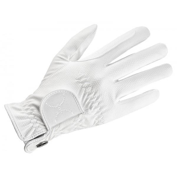 Reithandschuh sportstyle glamour -weiß