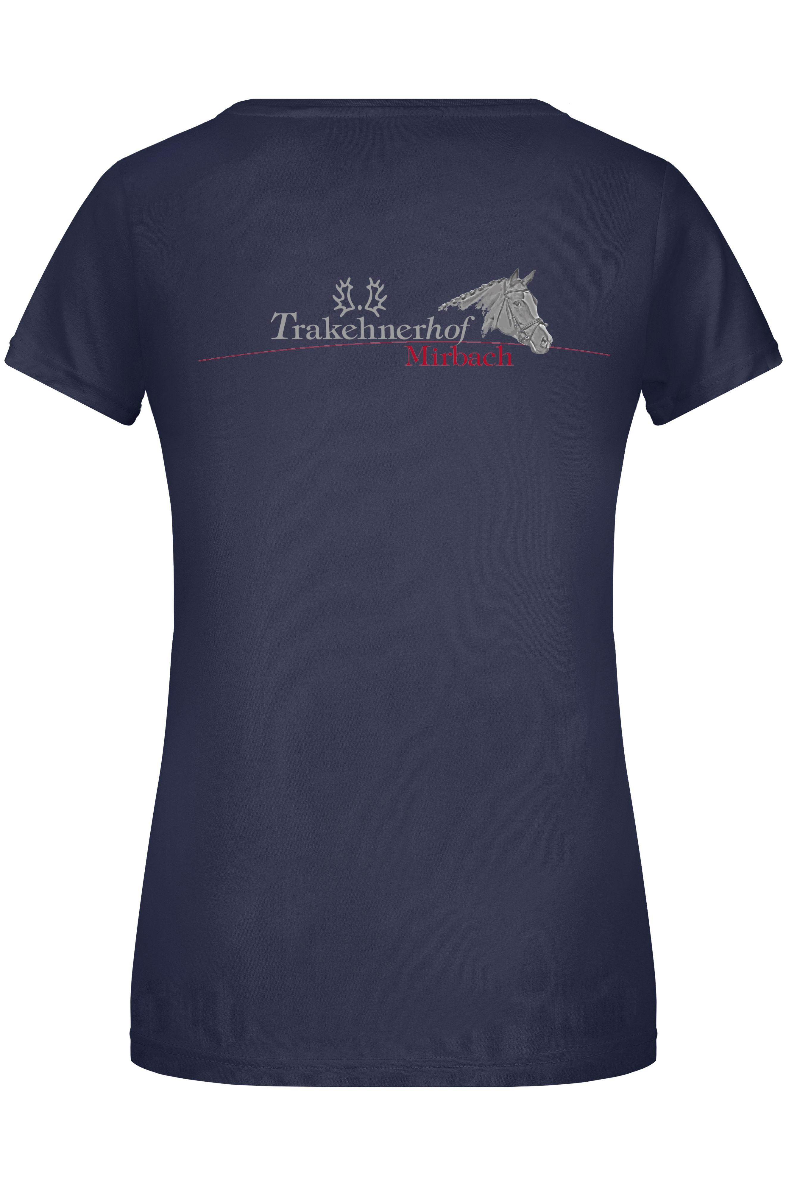 T-Shirt Damen-navy