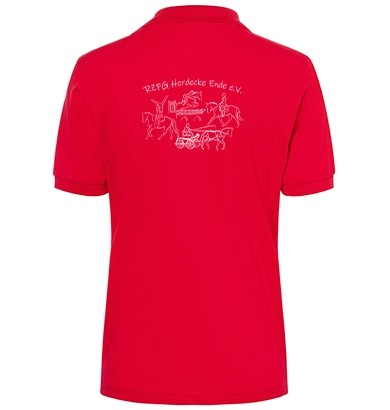 Poloshirt Damen -red