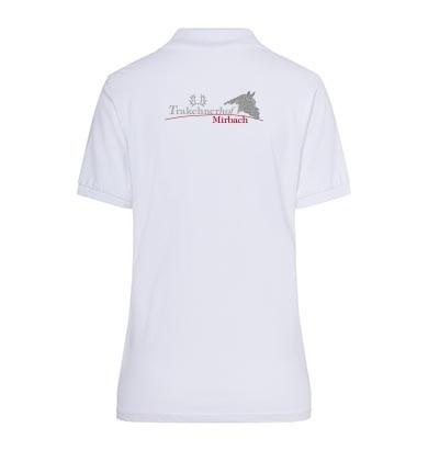 Poloshirt Damen-weiß