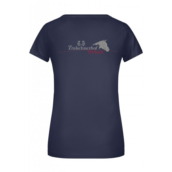 T-Shirt Damen-navy