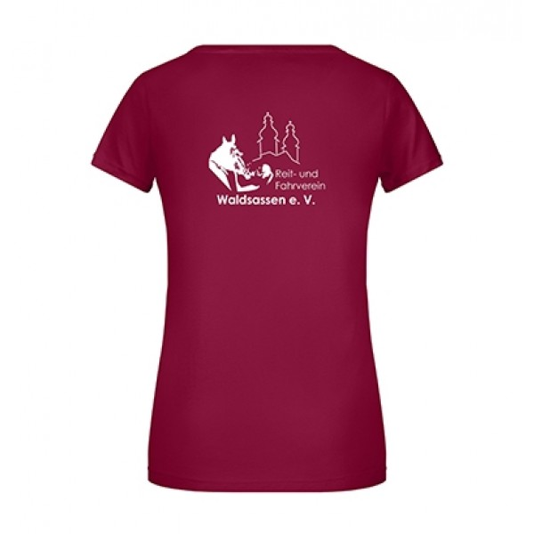 T-Shirt Damen -wine