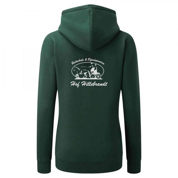 Zip-Hoodie Damen - bottle green