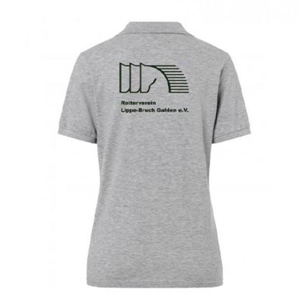 Poloshirt Damen - grey-heather