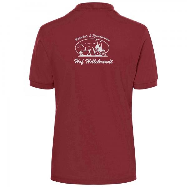 Poloshirt Damen - wine