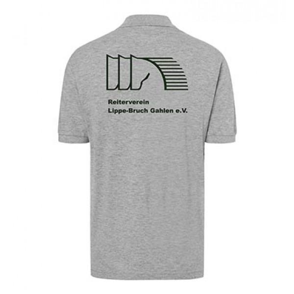 Poloshirt Herren - grey-heather