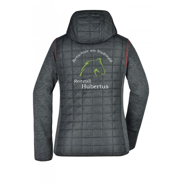 Hybrid Jacken Damen - grey-melange