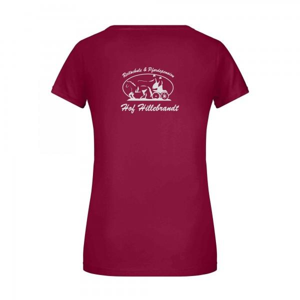 T-Shirt Damen - wine