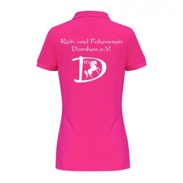 Damen Poloshirt - hot pink