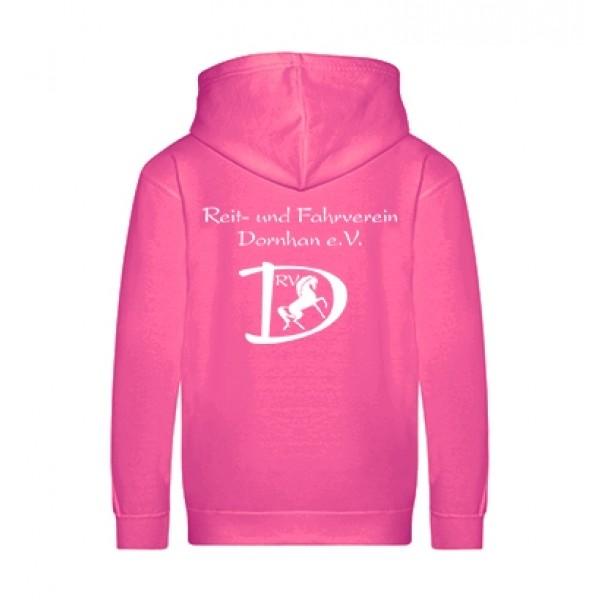 Kinder Zip-Hoodie - hot pink