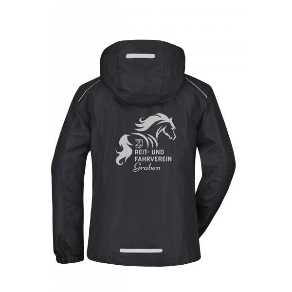 Regenjacke Damen - black/silver