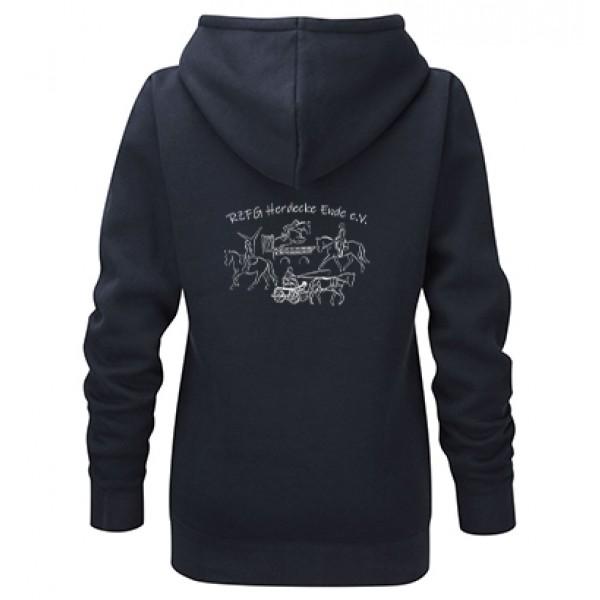Zip-Hoodie Damen -navy