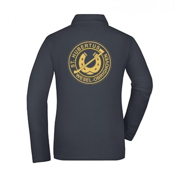 Polo Langarmshirt Damen - navy