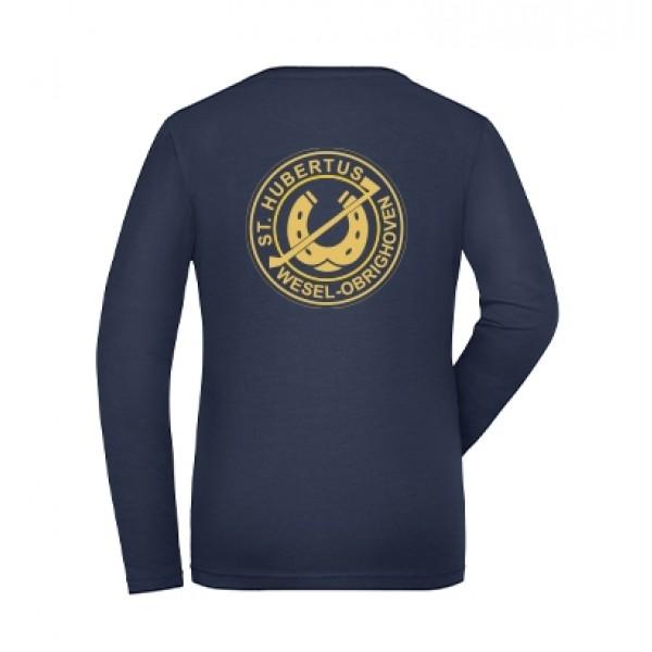 Langarmshirt Damen - navy
