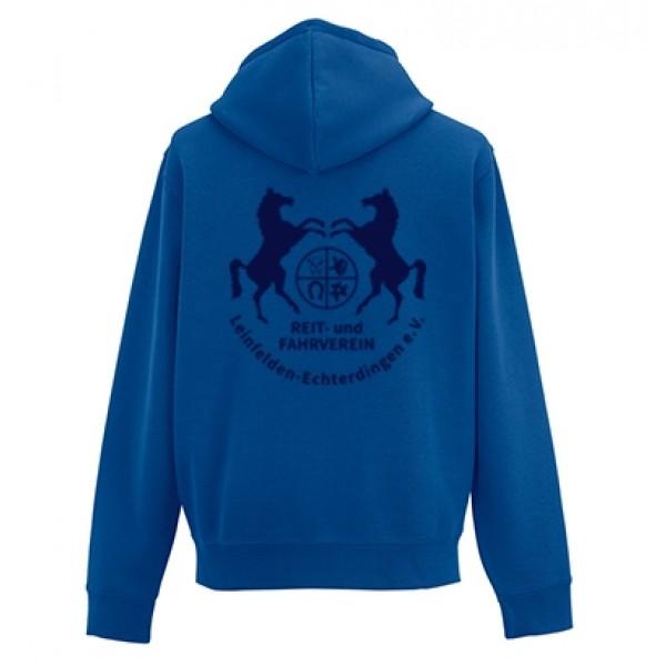 Kinder Zip-Hoodie - royalblau
