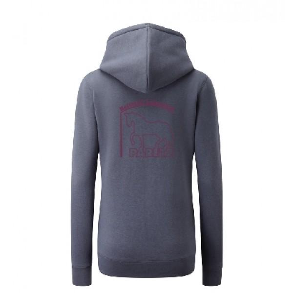 Zip-Hoodie Damen - convoy grey